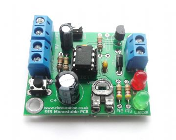 555 Monostable Timer Project Self Build Kit